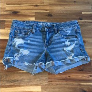 American Eagle Super Low Distressed Shortie 4